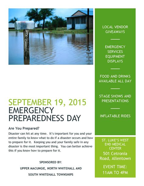 Emergency Preparedness Giveaways - emergency preparedness day south whitehall township