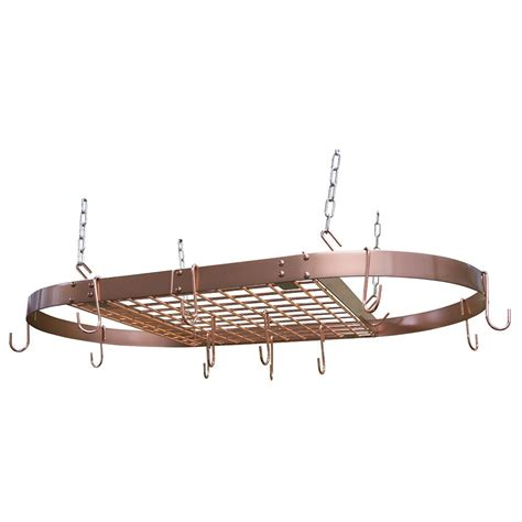 range kleen pot rack oval copper cw6015 the home depot