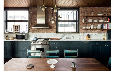 kirsten dunst apartment the kitchen s marble countertops add polish to the brick