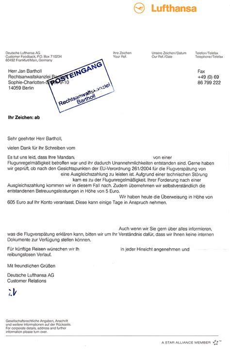 beschwerdebrief muster schadensersatz schadensersatz wegen flugversp 228 tung auch verdienstausfall und entgangener gewinn fluggastrechte
