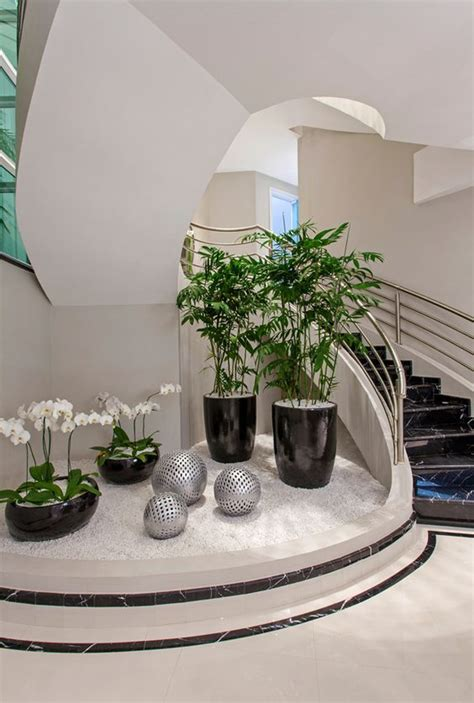 vibrant small indoor gardens   stairs