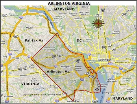 Printable Map Of Arlington