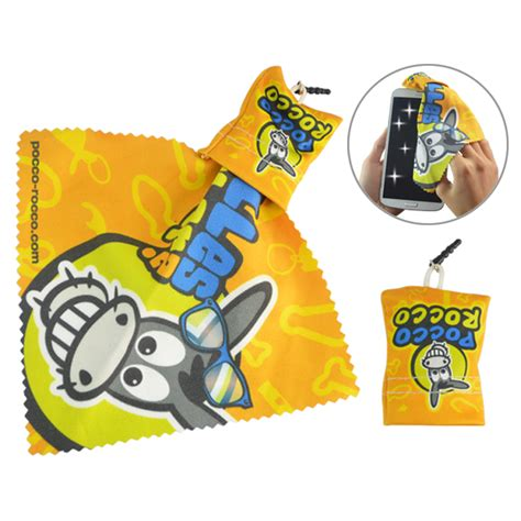 your cell phone lead phthalate latex free made of eraserrubber custom cute shape microfiber cleaning cloths for lens