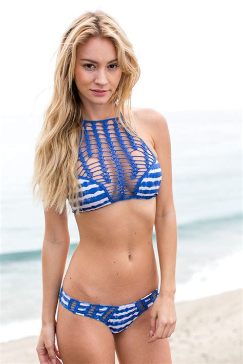 knit swimsuit fashion 2016 swimwear halter openwork knit swimsuit lace