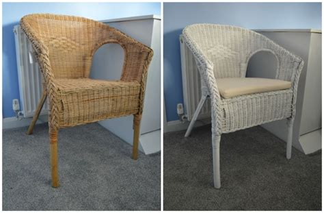 painting wicker chairs uk 60 minute makeover spray painting our nursery wicker
