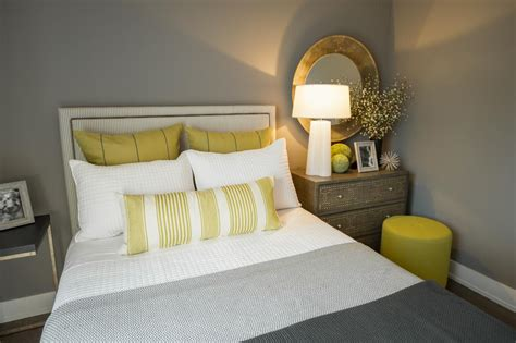 yellow grey bedroom guest bedroom pictures from hgtv smart home 2015 hgtv