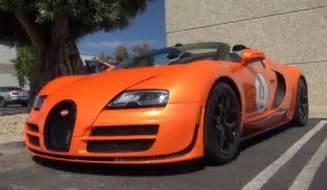 Orange Bugatti Orange Bugatti Veyron Grand Sport Vitesse At