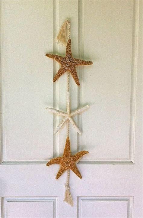 beach decor starfish door hanging beach cottage