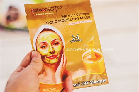 Masker Qiansoto Gold my lovely a with monday s 123 qiansoto 24k gold modeling peel