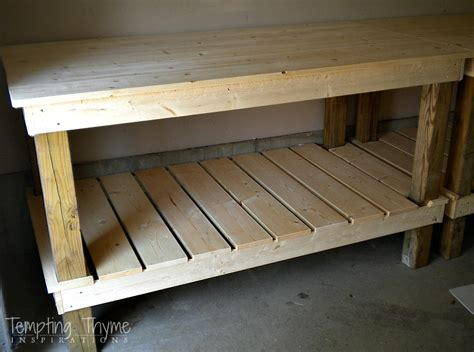 building a potting bench diy potting bench tempting thyme