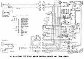 ford f 100 through f 350 truck 1967 exterior lights and turn signals wiring diagram all about