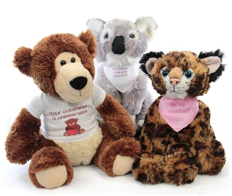 stuffed animals valentines day s day personalized stuffed animals stuffed