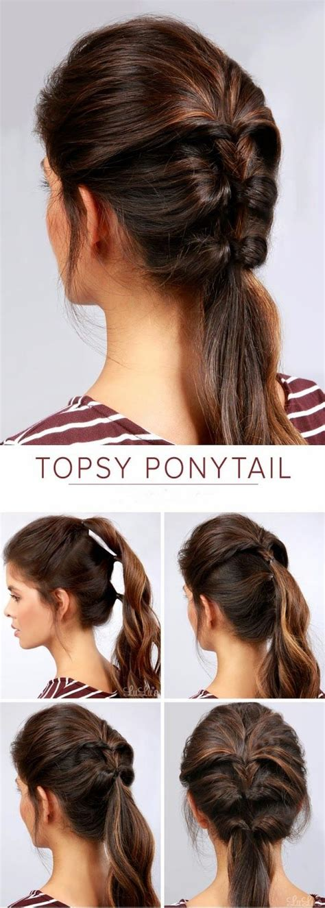 how to do easy hairstyles for kids step by step 25 best ideas about easy ponytail hairstyles on pinterest