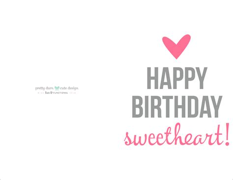 printable birthday cards with photo insert 41 best cute happy birthday printable cards