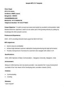 Resume Sample Bpo by Bpo Resume Template 22 Free Samples Examples Format