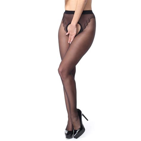 Crotchless Tights crotchless seam tights p211 black misso