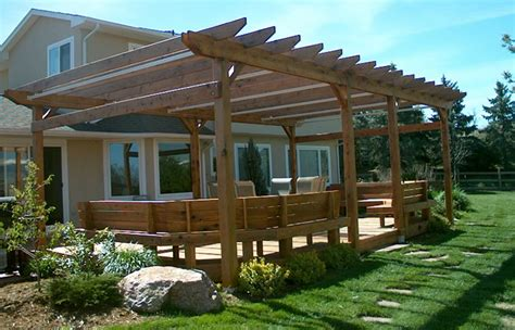 Guide To Get Pergola Plans Attached To House Kits Big Idea Covered Pergola Designs