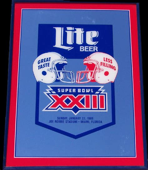 Miller Lite Mirror miller lite beer super bowl 23 bar mirror