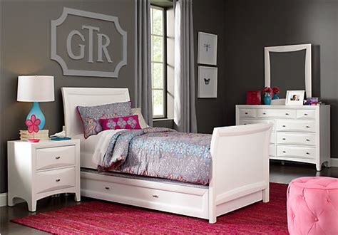 Rooms To Go Bedroom Sets by League White 6 Pc Sleigh Bedroom Bedroom Sets