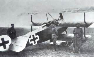 The fokker dr i piloted by the red baron during his last victories and