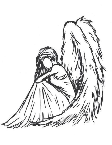The 25  best Angel drawing ideas on Pinterest   Drawings of angels, Angel sketch and Fallen