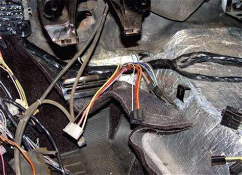 wiring  interior installation  corvette restoration