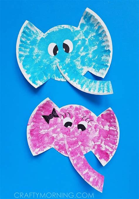 Crafts With Paper Plates For Preschoolers - paper plate elephant craft horton hears a who for