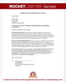 landlord s notice of non renewal of lease to tenants with