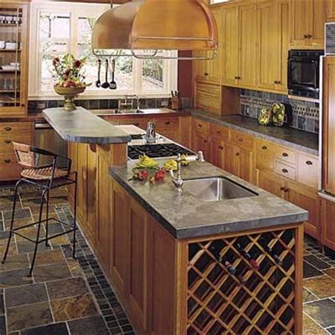 Kitchen Island Bar Ideas Kitchen Islands The Chef Islands And Built In Wine Rack