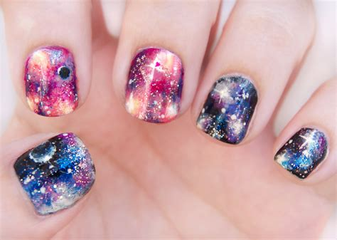 tutorial nail art galaxy sophisticated galaxy art for lustrous nails nail art