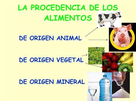imagenes de origen animal vegetal y mineral los alimentos