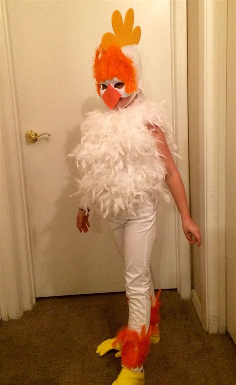 how to make a costume how to make a chicken costume with pictures wikihow