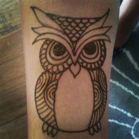 owl henna tattoo henna owl henna by hennas owl