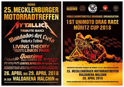 Motorradtreffen Malchin 2018 Programm by 25 Mecklenburger Motorradtreffen Malchin Bikes Music