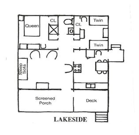 lakeside floor plan rental lakefront cottage floorplans