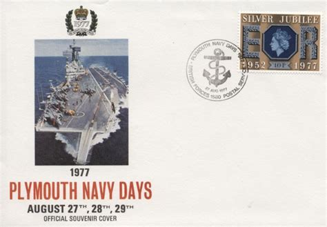 plymouth navy days plymouth navy days naval ship day cover bfdc