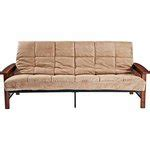 mainstays wood arm futon walmart deal mainstays wood arm futon 219 86 194