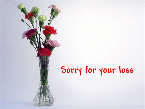 sorry for your loss quot we re sorry for your loss quot for purpose