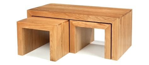 Cube Oak Long John Coffee Table Quercus Living Coffee Nest Of Tables