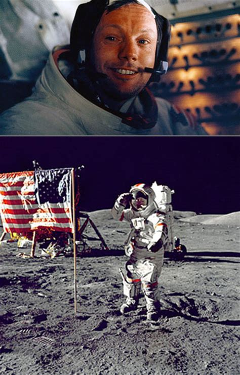 neil armstrong images neil armstrong on the moon passes away at 82