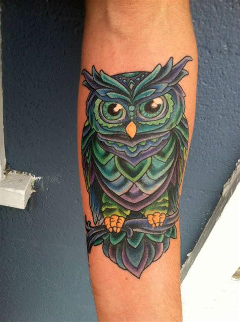 custom mystic owl tattoo bayside tattoo traverse city