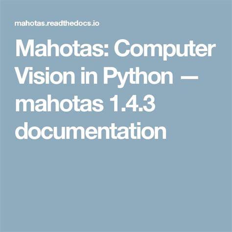 Opencv Python Documentation