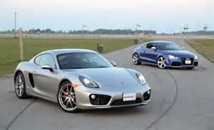Porsche Cayman Vs Cayman S 2014 Porsche Cayman S Vs 2013 Audi Tt Rs Autoguide News