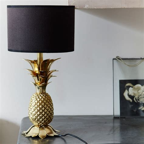 Table Lamp Black And Gold Gold Pineapple Table Lamp Base Lighting Graham And