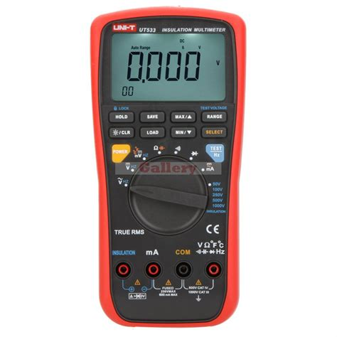 capacitor digital multimeter uni t ut533 true rms auto range 50 1000 v insulation resistance tester digital multimeter