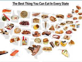 best things to do in each state map best food in every state business insider