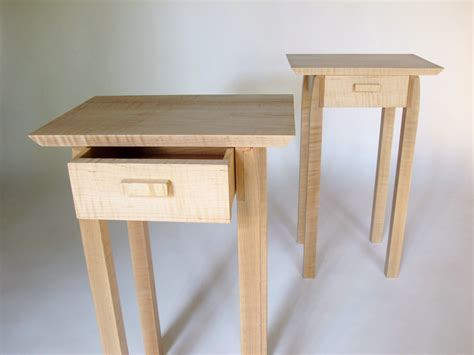 Bed End Table by Pair Of Nightstands Small Bed Side Tables Set Of Narrow End