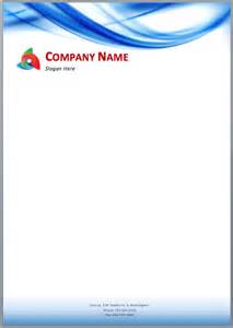 Restaurant Letterhead Templates Free by Blue Waves Letterhead Template Printable Templates