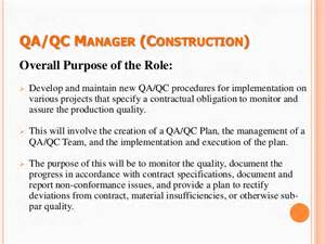 Production Progress Report Template 1 study on quality assurance and quality control
