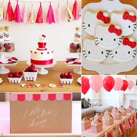 themes for kitty party hello kitty birthday party ideas popsugar moms